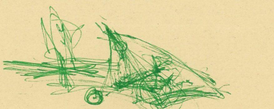 erste Skizze eines stromlinienförmigen Zweirades