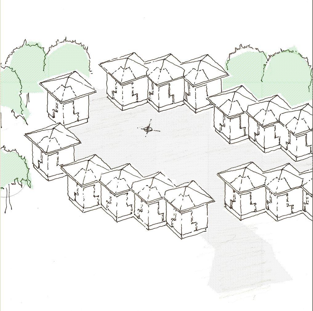 """Gruppe mehrerer """"Bedingungslose Grundhäuser"""""""